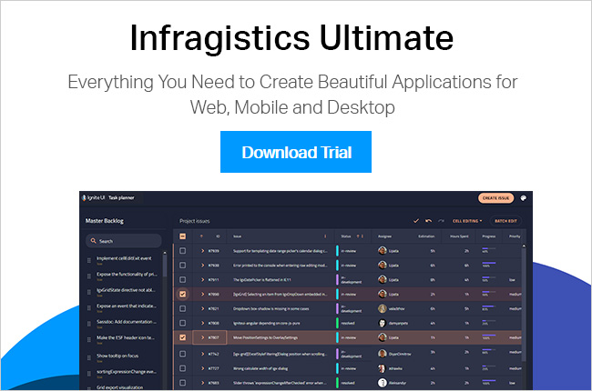 New Release - Try Infragistics Ultimate 19.1 Free for 30 days.