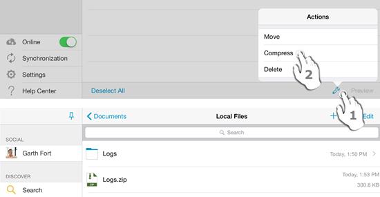 Generating a ZIP file
